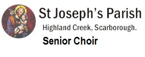 St. Joseph's Parish Senior Choir Logo